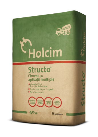 sac ciment holcim structo cu aplicatii multiple